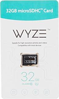 Wyze Labs 可扩展存储 32GB MicroSDHC 卡 Class 10,黑色 - WYZEMSD32C10