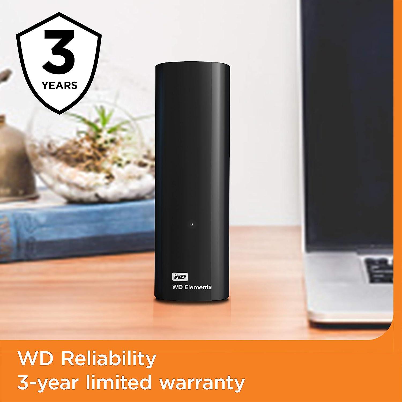 中亚Prime会员、绝对值: Western Digital 西部数据 Elements 桌面硬盘 10TB