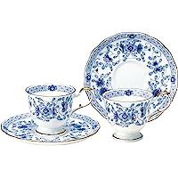 NARUMI Milano 茶杯茶碟套装 两组 咖啡 日本制 9682-20515 蓝色 200cc