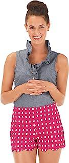 Mud Pie 女式 Serena 扇贝短裤 粉色 XS 码