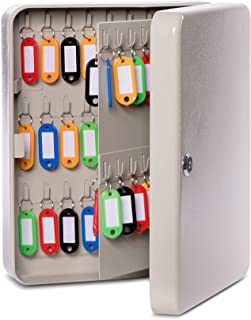 MAUL 壁挂式钥匙柜,90 个钥匙,30 x 24.5 x 8 厘米,灰色