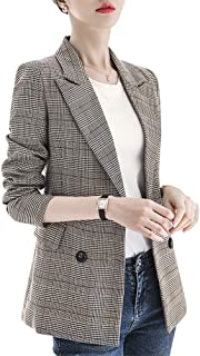 SUSIELADY 男式夹克灯芯绒运动外套智能正式晚餐棉夹克修身双扣缺领外套