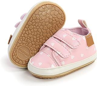 COSANKIM 男婴女童鞋系带皮革婴儿运动鞋防滑橡胶鞋底新生儿乐福鞋学步鞋学步学步鞋学步鞋