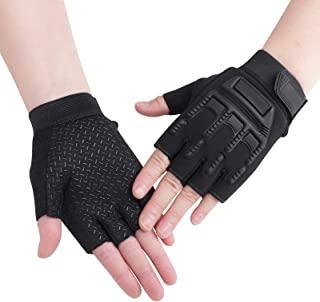 儿童骑行无指手套男孩女孩半指骑行手套户外运动手套儿童防震防滑凝胶手套适用于摩托车、露营、徒步、攀岩健身、防紫外线手套