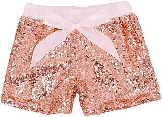 Cilucu 女婴短裤幼儿亮片短裤两侧闪光