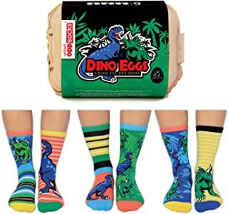 恐龙蛋 - 6 只装男童袜 - 美码 13.5-7 英码 12-6 欧码 30.5-39