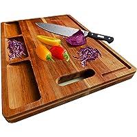 HHXRISE Acacia 木砧板 适用于厨房 15.1 x 10.6 x 0.7 英寸(约 39.9 x 25.4…