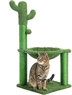 Catinsider 33 英寸仙人掌猫树带吊床和全包裹剑麻猫抓柱 * 大号