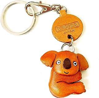 Koala 皮革动物小钥匙链 VANCA CRAFT 收藏钥匙圈吊坠 日本制造