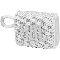 JBL GO 3 白色小型蓝牙盒 – 防水便携式音箱 – 只需一个电池充电即可播放长达 5 小时