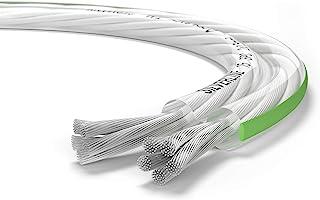 Oehlbach Silverline SP 不锈钢迷你卷轴扬声器电缆银色涂层 2 x 1.5 mm² 透明