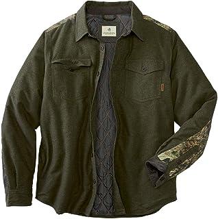 传奇白尾鹿男式 woodsman 夹棉衬衫外套