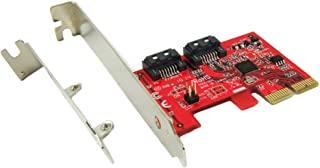 Ableconn PEXSA115A 2 端口 SATA 6G PCI Express 主机适配器卡 - AHCI 6Gbps SATA III 端口乘数 PCIe 2.0 低剖控制器卡 (ASMedia ASM1062)