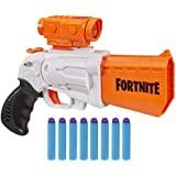 NERF Fortnite SR 玩具枪 -- 4 发弹锤击 -- 包括可拆卸瞄准镜和 8 个官方精英飞镖 -- 适合青…