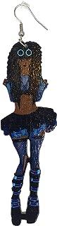 性感耳环/自然发/非洲裔美国女人耳饰/木饰品