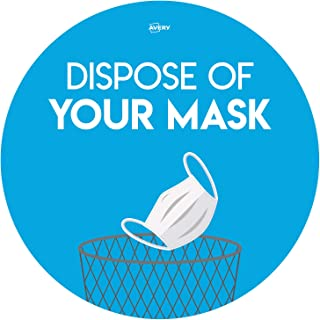 Avery Dispose of Your Mask 圆形标牌,圆形贴纸 Ø275 毫米,每包 2 张海报