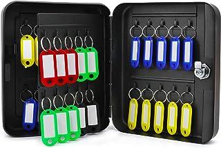 Jolitac 钥匙柜钢制*锁盒,壁挂钥匙收纳盒,配有 40 个钥匙钩和钥匙圈(40 个钥匙)