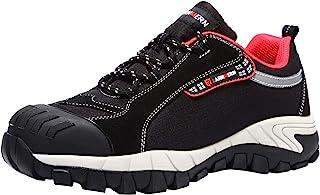 LARNMERN 钢头女士*鞋,透气轻质反光带 SRB 工业建筑鞋