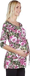 女式 3/4 袖花卉孕妇衬衫
