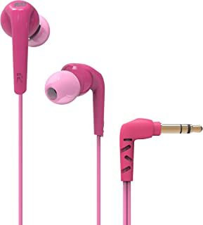 MEE Audio RX18 Comfort-Fit In-Ear Headphones with Enhanced Bass (Pink)