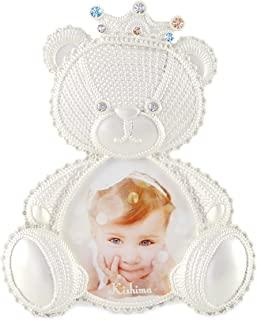 Kishima 钩边婴儿相框小熊 パール ホワイト