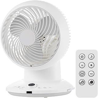 YAMAZEN 山善 空气循环器 20畳 (透气/空气循环) (360度摆动) (DC电机) (风量调节8档) (带遥控器) (带定时器)白色 YAR-CD20 需配变压器