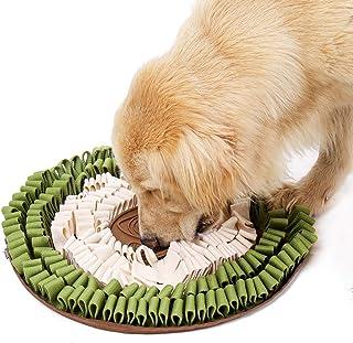 宠物鼻托垫适用于大型犬,鼻托喂食垫,狗狗*互动拼图,小型中大型犬喂食游戏,涤纶面料耐咬(7.36 英寸)