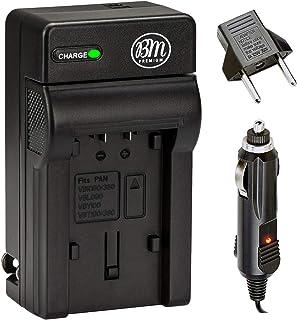 VW-VBK180、VW-VBK360、VBT190、VBT380 电池充电器适用于松下 HC-V10、HC-V100、HC-V110、HC-V130、HC-V160、HC-V180、HC-V201、HC-V210、HC-V250、HC-V38...