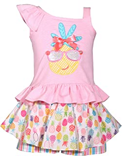 Kids 幼儿女婴菠萝短裤套装