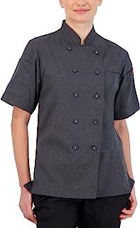 Happy Chef 女式 Omni 短袖轻质厨师外套