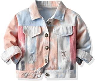 婴儿幼儿女童牛仔夹克儿童长袖系扣牛仔外套外套