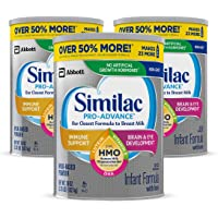 Abbott 雅培 Similac 铂优恩美力 Pro-Advance Non-GMO 婴儿奶粉,不含铁,带有2'-FL…