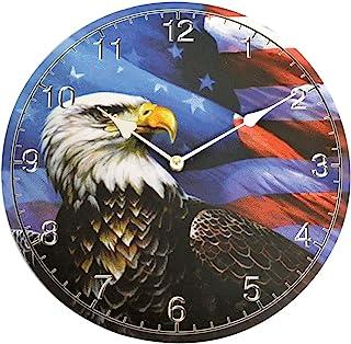 爱国美国鹰图案挂钟 - 独立日特别