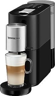Krups 克鲁伯 Nespresso Atelier 胶囊咖啡机 XN8908 带奶泡系统 一键式制备 可制备冷热饮 1L水箱 含Nespresso玻璃杯+咖啡胶囊 19bar泵压,黑色/银色