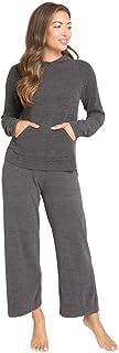 Barefoot Dreams 女士舒适时尚超轻套头连帽衫,休闲涤纶女士秋季夹克