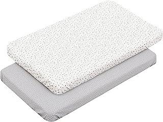 Cambrass 46119 2 Fitted Sheet-Samll床,50x82x1厘米,森林灰色,灰色