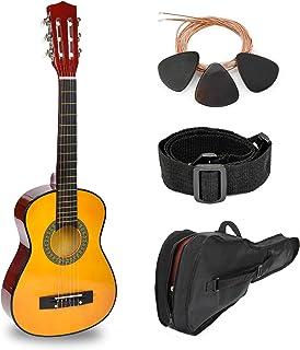 30 英寸(约 76.2 厘米)天然木吉他,带盒子和配件,适合儿童/男孩/初学者