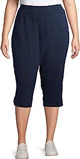 Terra & Sky 女式加大码针织七分裤