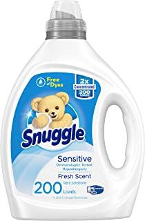 Snuggle 液体织物柔软剂,不含染料,适合敏感肌肤,2 倍浓缩,200 次使用