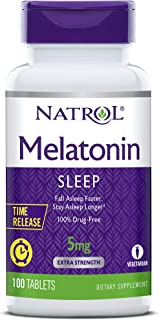 Natrol Melatonin Time Release Capsules, 5 mg, 100 Count