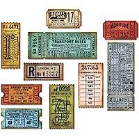 Sizzix Thinlits 6 件装门票亭模具套装,碳钢,多种颜色,7.5 x 14.4 x 0.4 厘米
