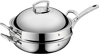 WMF 福腾宝 2件套不锈钢炒锅,带金属盖; 可调的Cromargan蒸汽排放气闸; 无涂层的金属盖; 直径32厘米; 多层材料制成,适合电磁炉和洗碗机
