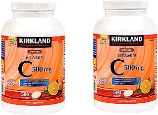 Kirkland Signature 维生素C,500毫克,2包,1000片橘红色咀嚼片