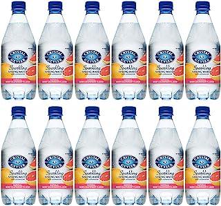 Crystal Geyser 1.25 升红葡萄柚风味闪亮泉水 12 个装 PET 塑料瓶,不含人工成分或甜味剂