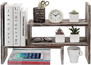 可调节扭转木桌面储物柜展示架,台面书柜 扭转木