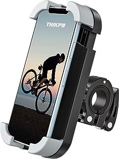 THIKPO 自行车手机支架带防震硅胶垫,*快速锁定夹具,360°旋转角度,适用于 4.7-6 英寸手机