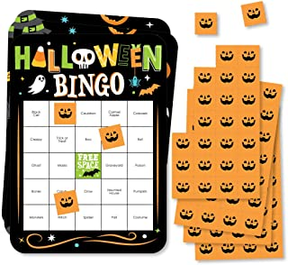 Big Dot of Happiness Jack-O'-Lantern 万圣节 - 宾果卡片和记号笔 - 儿童万圣节派对宾果游戏 - 18 件套