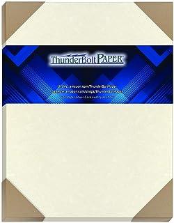 50 个旧白色羊皮纸 60 磅封面重量纸 20.32 厘米 X 25.40 厘米(8X10 英寸)照片|相框尺寸 - 可打印旧羊皮纸