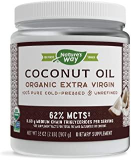 Nature's Way 优质初榨椰子油 - 纯,冷压,Non-GMO,无麸质 - 32盎司(896g)
