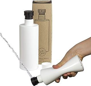 CuloClean 便携式坐浴盆,带水壶,适用于厕所或旅行(黑色)与每个奶瓶兼容。谨慎、生态、迷你、老人、喷雾器、手持式